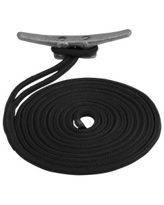 "Sea-Dog Double Braided Nylon Dock Line - 3/4"" x 25' - Black"